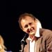 Andrew Upton accepting award from Kate Mulvany and Tin Jones