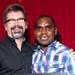 Brian Butcher from Showcast with Derek Lynch,winner of Best Newcomer Award sponsored by Showcast