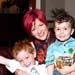 Elissa Blake with two of the younger generation of critics